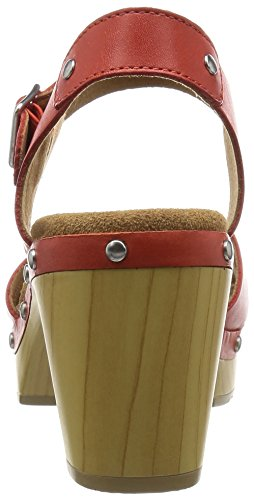 Clarks Ledella Trail, sandales compensé  Femme Rouge (Grenadine Lea)