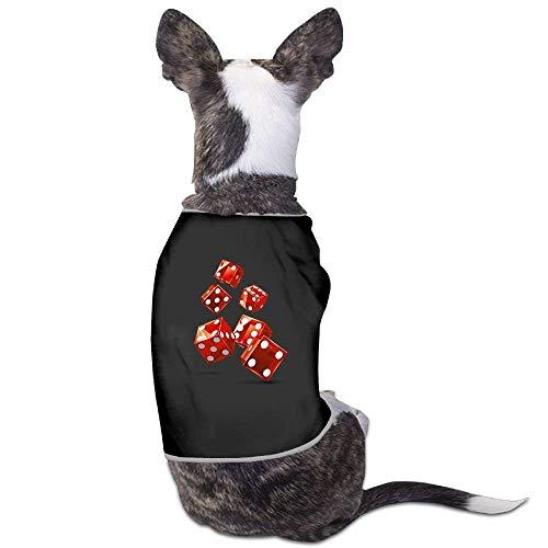 m/Hunde-Kostüm, Würfel-Muster, Rot ()
