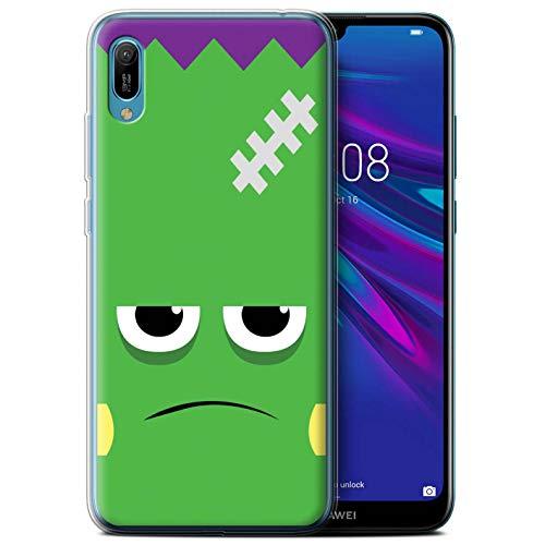 eSwish Gel TPU Hülle/Case für Huawei Y6/Prime/Pro (2019) / Frankenstein Muster/Halloween Zeichen Kollektion (2019 Halloween Frank)