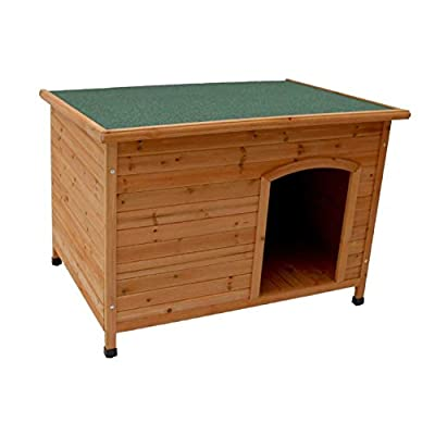 Oypla Wooden Outdoor L/XL Large Dog Kennel House Animal Shelter by Oypla