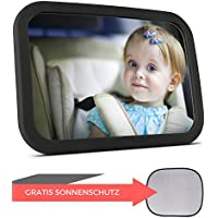 Babyspiegel für's Auto + Sonnenschutz   Rücksitzspiegel für Babys - Autospiegel - Rückspiegel für's Baby
