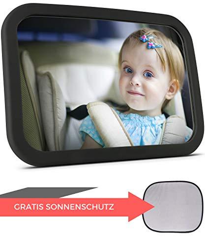 Babyspiegel für\'s Auto + Sonnenschutz | Rücksitzspiegel für Babys - Autospiegel - Rückspiegel für\'s Baby