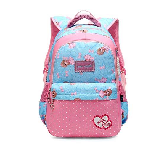 18/15.5 Inch Girl School Backpack School Bags for Teenage Girls Big Capacity Kid Shoulder Bag for Girl Blue Small