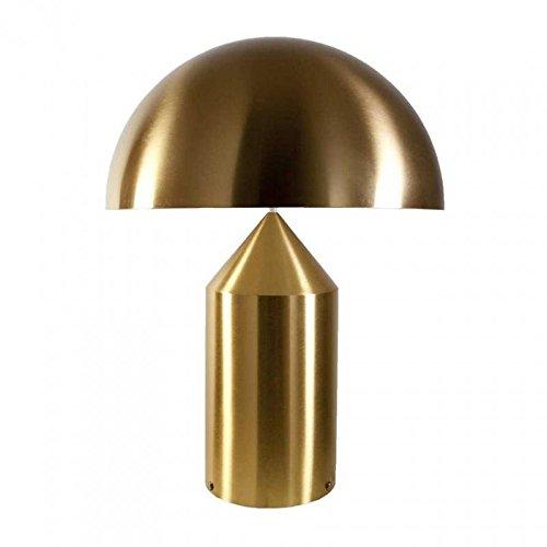 oluce Atollo 239-Lámpara de mesa, Oro Brillante Con Regulador H50X Ø38cm