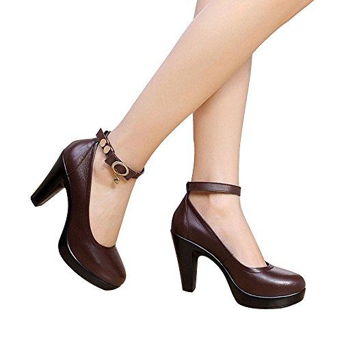 OCHENTA, Scarpe col tacco donna Marrone 6 cm