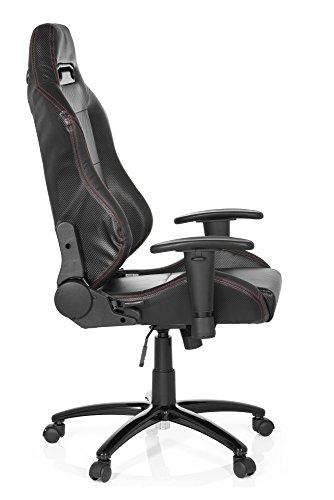 Silla Gaming / silla de oficina SILVERSTONE II piel sintética negro