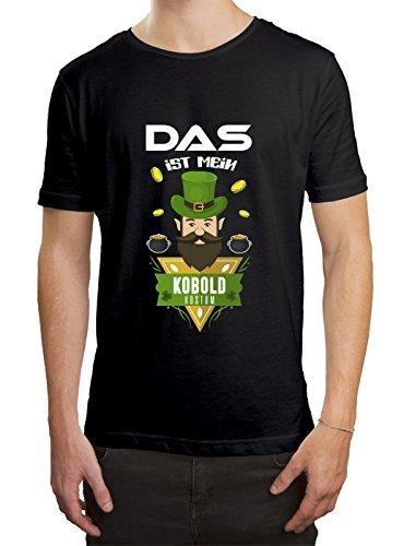Verkleidung Kobold Premium T-Shirt | Kostüm | Karneval | Fasching | Herren | Shirt, Farbe:Schwarz (Deep Black L190);Größe:L (Kobold-grün T-shirt)