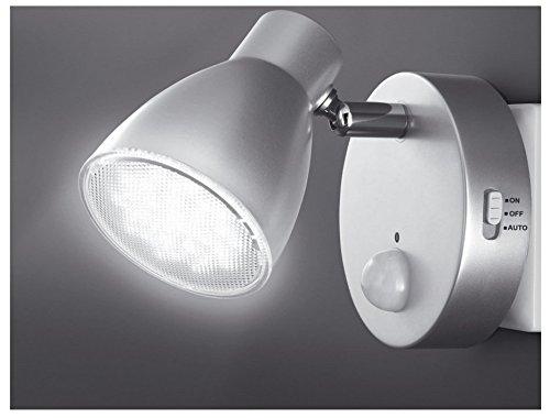 Trango TG2635-014(argento/titanio) luce notturna LED con funzione automatica, 230V, con
