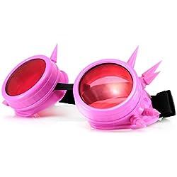 4sold (TM) Steampunk Antique Copper Cyber Goggles Rave Goth Vintage Victorian Sonnenbrillen Inklusive GRATIS UV400 Sonnenbrille Objektiv und zusätzliche Aufkleber alle Bilder sehen