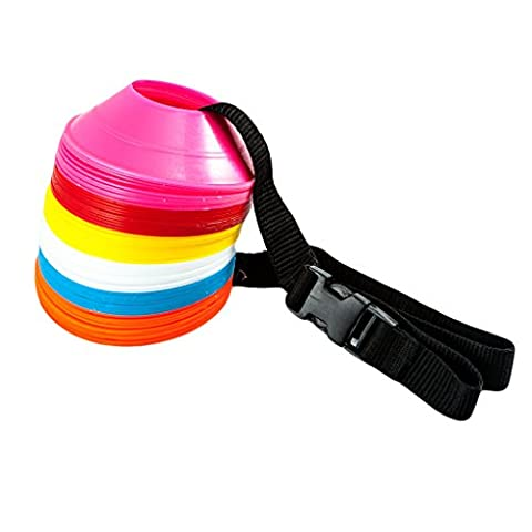 FH Pro Multi-function Agility Cones for Rugby Football Soccer Sports Field Practice Drill Marking Mini Marker Saucer Cone Set 60 pcs