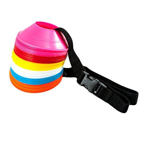 FH Markierungsteller/Hütchen für Rugby Football Fußball Sport Feldübungen Drill, Markierung Mini Marker Untertasse Konus-Set, 60-teilig