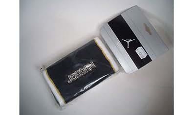 Nike air jordan bandeau pour poignets de 2 manchettes noir aC 0475–005 &blanc 15 cm/largeur: taille unique