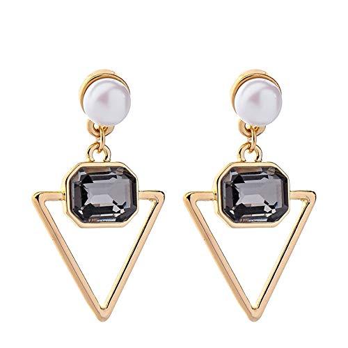 SupKey.L Neue Dreieck Ohrringe für Frauen Glas Perle Ohrringe Modeschmuck -