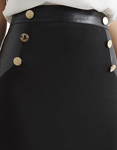 Lipsy Femme Jupe crayon boutonnée Noir