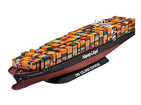 Revell 05152 - Modellbausatz Schiff 1:700 - Containerschiff Colombo Express im Maßstab 1:700, Level 4, Orginalgetreue Nachbildung mit vielen Details, Frachter, Ozeanriese -