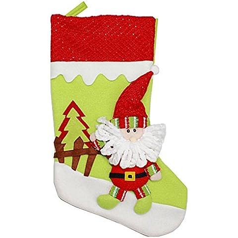Decorazioni Natalizie Babbo Natale Ciondolo Calzini Calze Di Natale Sacchetti Di Caramelle Di Natale, Babbo Natale