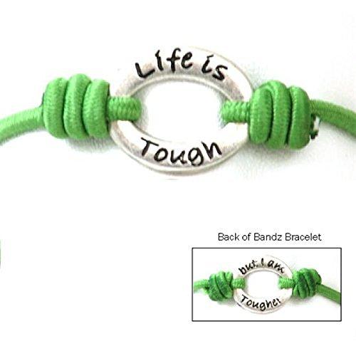 toc-bandz-life-is-toughbut-i-am-tougher-green-6-stretch-bracelet
