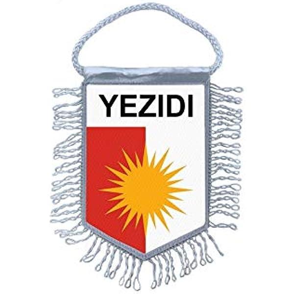pins pin badge pin/'s metal  avec pince papillon drapeau yazidi yezidi