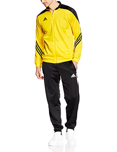 Gelbe Hosen Für Männer (adidas Herren Trainingsanzug Sereno 14 PES, Gelb (Top:Sun/Black/White Bottom:Black/White), XL, F49715)