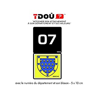 Sticker Selbstklebend für Nummernschilder, Ardèche 07
