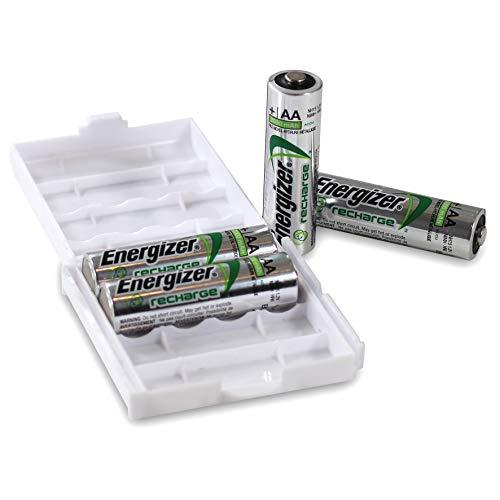 Energizer Recharge AA Power Plus Akkus in praktischer Batteriebox von Weiss - More Power +   4 Stück Energizer Recharge