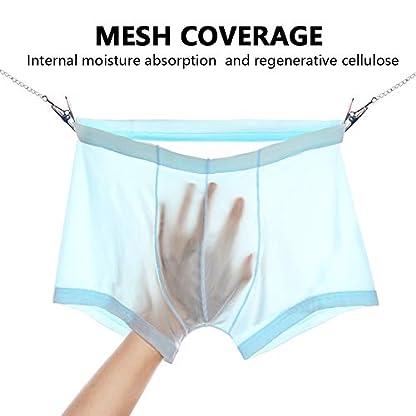 Litthing Calzoncillos de Malla de Encaje de Seda de Hielo para Hombre Pantalones Cortos U Convexo Diseño Tridimensional Calzones Transpirables Transparentes