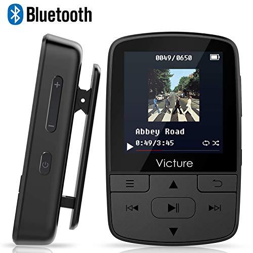 Victure Lettore MP3 Bluetooth con Clip 8GB MP3 Player con Radio FM, MP3 Player per Sport e...