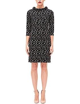 s.Oliver BLACK LABEL Damen Jerseykleid mit Stehkragen