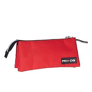Pro-Dg Estuche portatodo Triple, Color Rojo, 24 cm (Karactermanía 56611)
