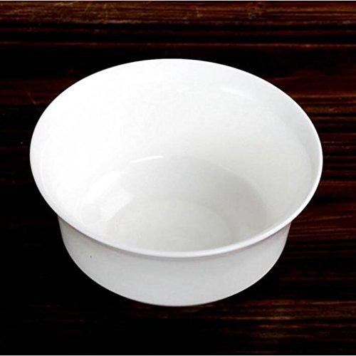 Utensilios Liuyu Cocina Inicio Puro Blanco Hueso China Cuenco De Arroz Cuenco De La Cara Cuenco De Sopa Cuenco De La Sopa (Tamaño : 8 Inches)
