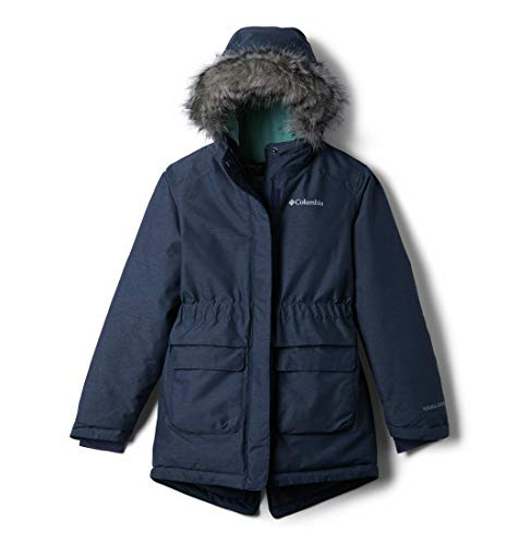 Columbia Girls' Waterproof Winter Jacket, Nordic Strider, Nocturnal Heather, X-Large