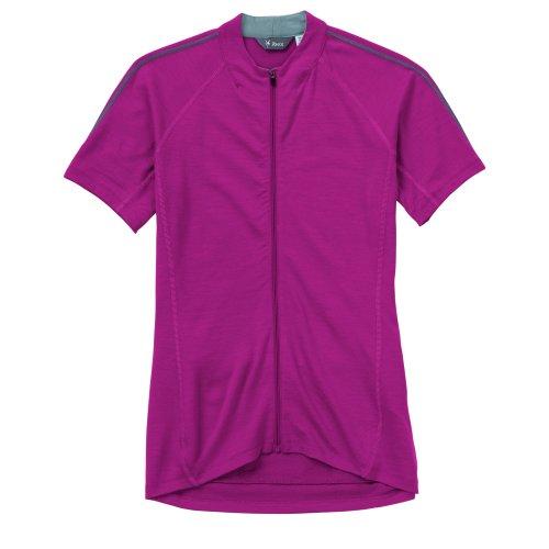 Ibex Outdoor Bekleidung Damen Indie Full Zip Short Sleeve Jersey, Herren damen, Raspberry Violet (Ibex-wolle-jersey)