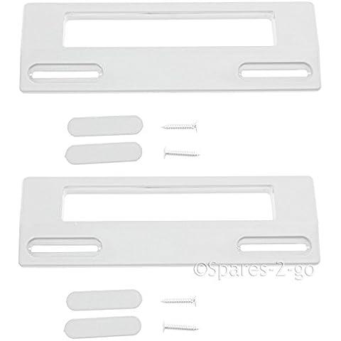 Spares2go tirador de puerta para Prima para nevera congelador (190mm, Blanco, Pack de 2)