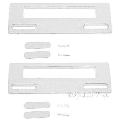 Spares2go tirador de puerta para Candy Nevera Congelador (190mm, Blanco, Pack de 2)