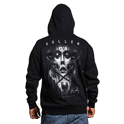 Sullen Men's Jak Connolly Zip-Up Long Sleeve Hoodie Black L (Dope Zip-up Hoodie)