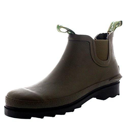 Damen Barbour Chelsea Welly Gummi Wasserdicht Schnee Kn�chel Stiefel EU 36-43 Olive