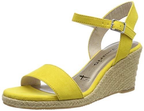 Tamaris 1-1-28300-22, Sandali con Cinturino alla Caviglia Donna, Giallo (Sun Uni 610), 36 EU