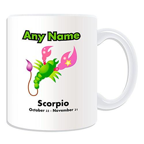 Personalised Gift-Tazza, motivo: segno zodiacale, Scorpione