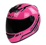 DUBAOBAO Motorradhelm Full Face, Man/Woman Harley Offroad-Motorrad-Helm, Größe für jedermann...