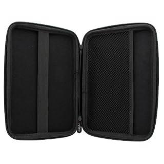 XiRRiX Hartschalentasche mit Nylon Oberfläche Tasche Schutzhülle für Navi (für 17cm (7 zoll) Display)