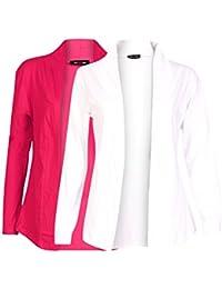 Ten On Ten Women's Shrug (NJ-PNKWHTE _Pink/ White _Free Size)