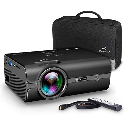 VANKYO Leisure 410 Mini Beamer LED Projektor 2500 Lumen ,50000 Stunden Heimkino Beamer Full HD 1080P unterstützt ,Kompatibel mit HDMI VGA USB AV TF für Smartphone Laptop,schwarz
