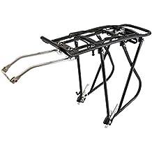 PrimeMatik - Portapacchi posteriore in metallo per bicicletta con leva 40x13 cm