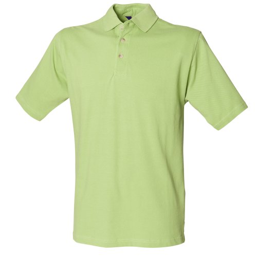 Henbury Herren Polo-Shirt, unifarben Limette