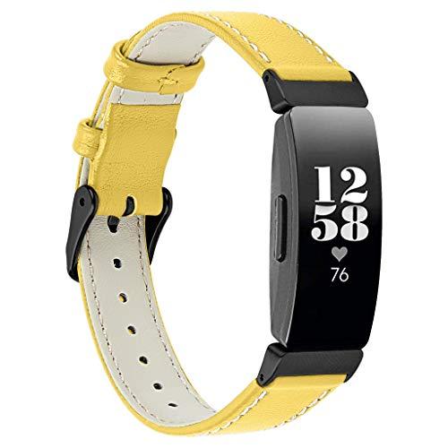Takkar Vintage-Stil Lederband/Armband für Fitbit Inspire/Inspire HR~modisch, hochwertig und hautfreundlich~Vintage Echtes Leder Uhrenarmband für Fitbit Inspire/Inspire HR~für Handgelenk:5,5-8,1 Zoll (Leder-uhrenarmbänder Hochwertige)