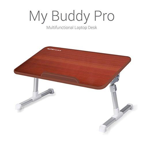 Portronics POR 711 My Buddy Pro Multifunctional Laptop Desk, Adjustable Laptop  Desk, Portable
