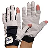 Blueport Segelhandschuhe aus Leder - 2 Finger frei, Größe:M