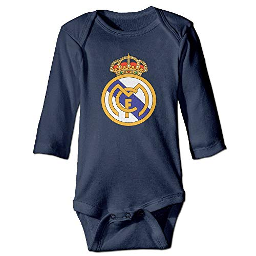 Ejjheadband Real Madrid Logo Newborn Infant Clothes Baby Onesie 18M