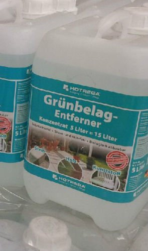Hotrega Grünbelag Entferner Algen und Moosentferner 5 Liter Konzentrat