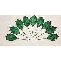50 verde hojas de acebo Navidad hojas Scrapbooking tarjeta de Mulberry de papel DIY del arte